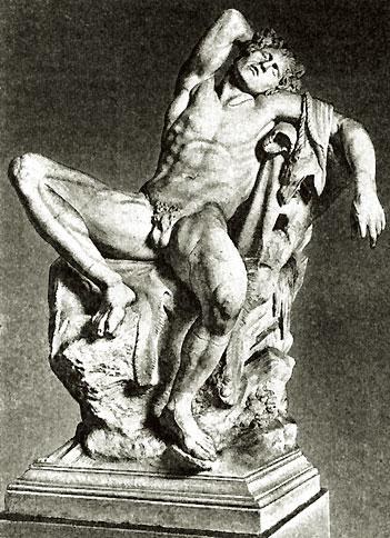 Спящий сатир. Римская мраморная копия с греческого оригинала. 220-210 до н. э. Мюнхен, Музей античного прикладного искусства